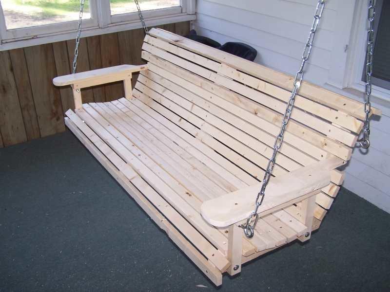 Сделать подвесную скамейку своими руками