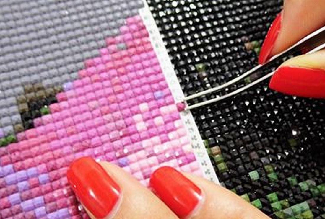 Как правильно вышивать алмазной вышивкой 803
