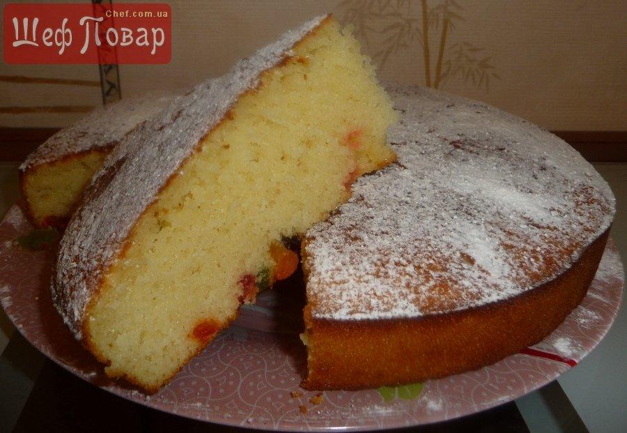 Сладкий пирог на кефире с