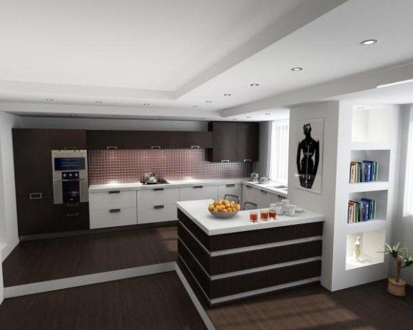 Как из большой кухни сделать гостиную