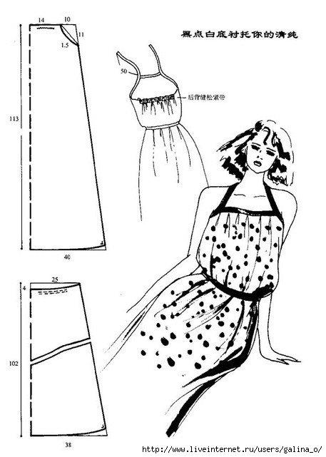 Выкройка ситцевого сарафана