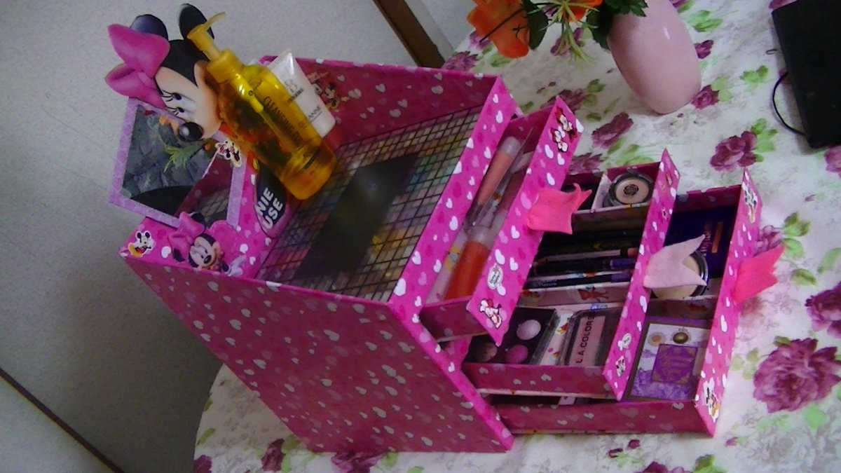 Сделать коробочку для косметики своими руками 37