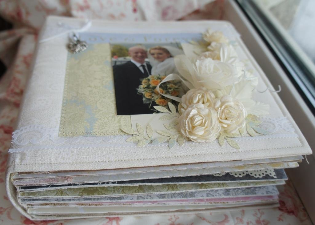 Свадебный украсить фотоальбом своими руками 70
