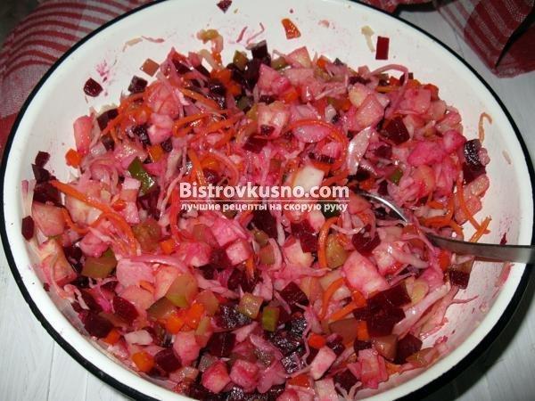 Винегрет с фасолью рецепт классический пошаговый рецепт с