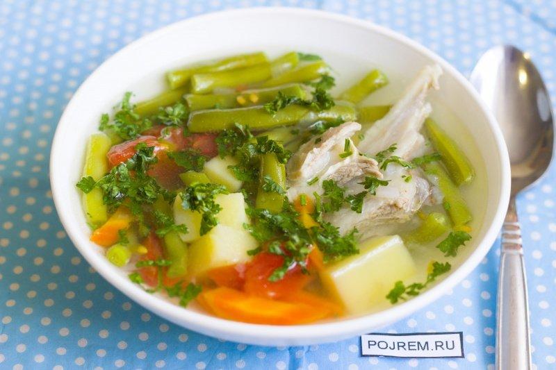 суп с цветной капустой и стручковой фасолью