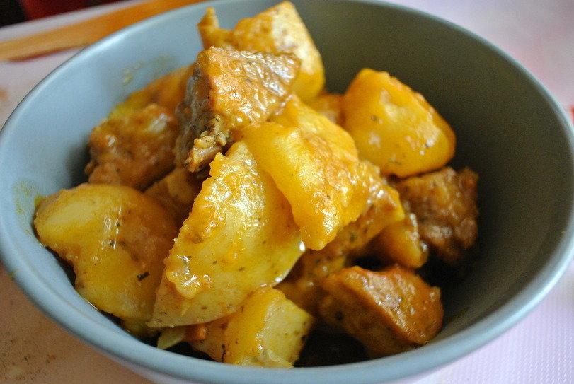 рецепт жаркое из свинины с картошкой с фото пошагово в