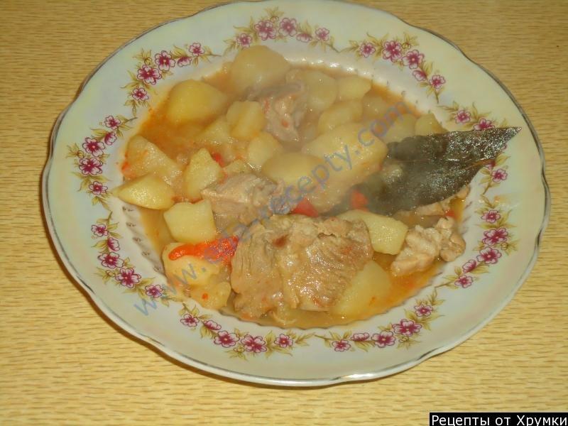 Говядина тушеная с овощами и картофелем рецепт пошагово
