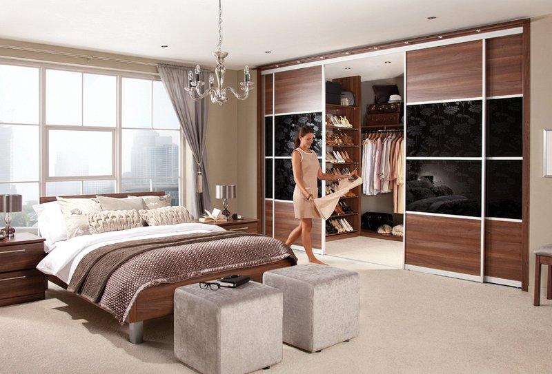 Дизайн гардеробных комнат в спальне