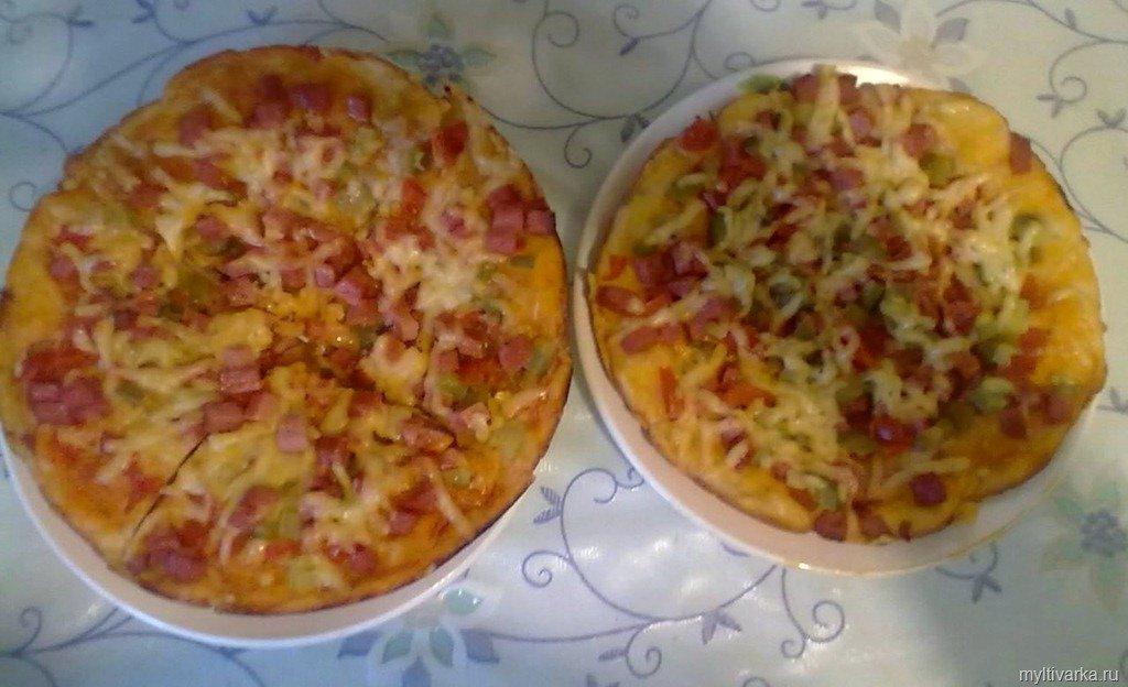 Быстрая пицца в мультиварке рецепты с фото без дрожжей