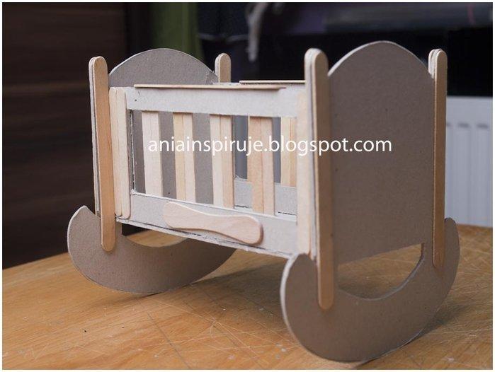 Как сделать кроватку из картона игрушечную