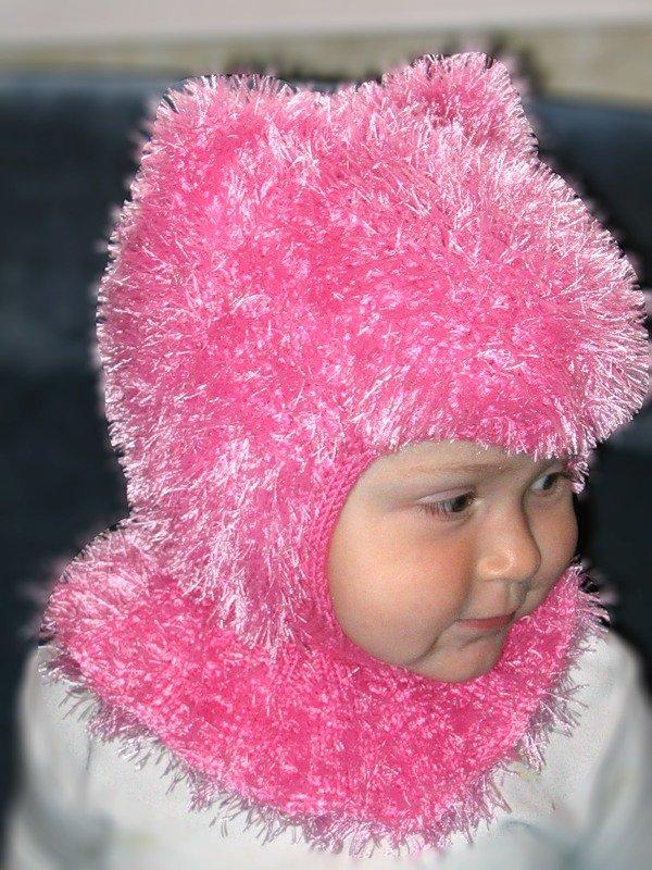 Вязание шапок из пряжи для девочки 591