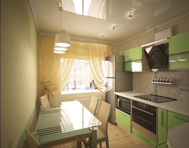 Красивый интерьер кухни 9 кв м фото