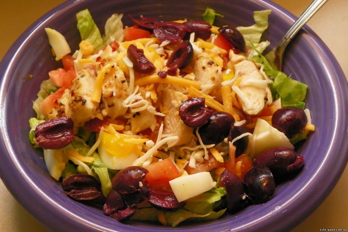 Салат из овощей и курицы рецепты