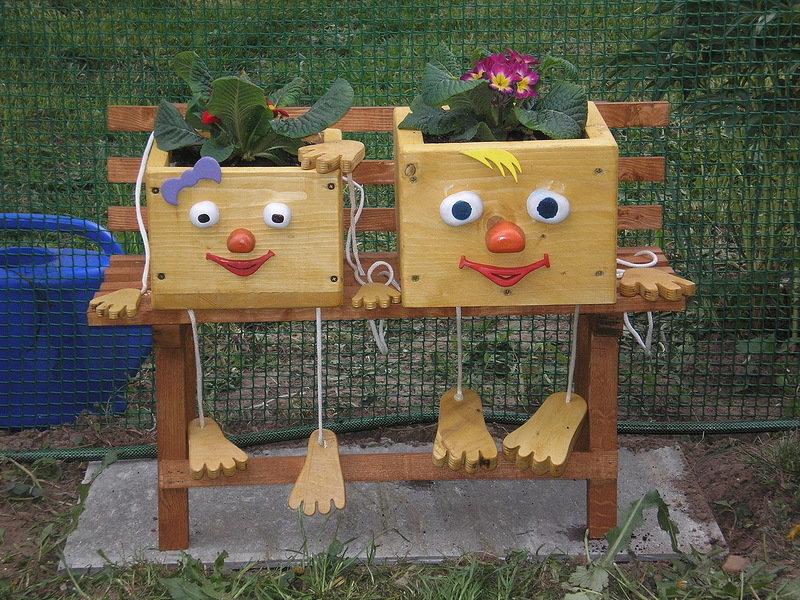 Поделки из дерева для сада детского