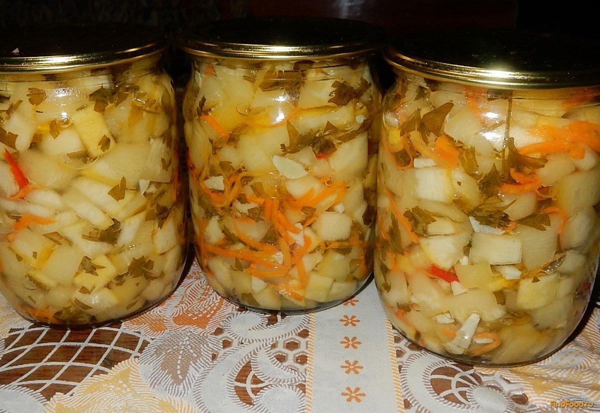 Фото салат из кабачков на зиму