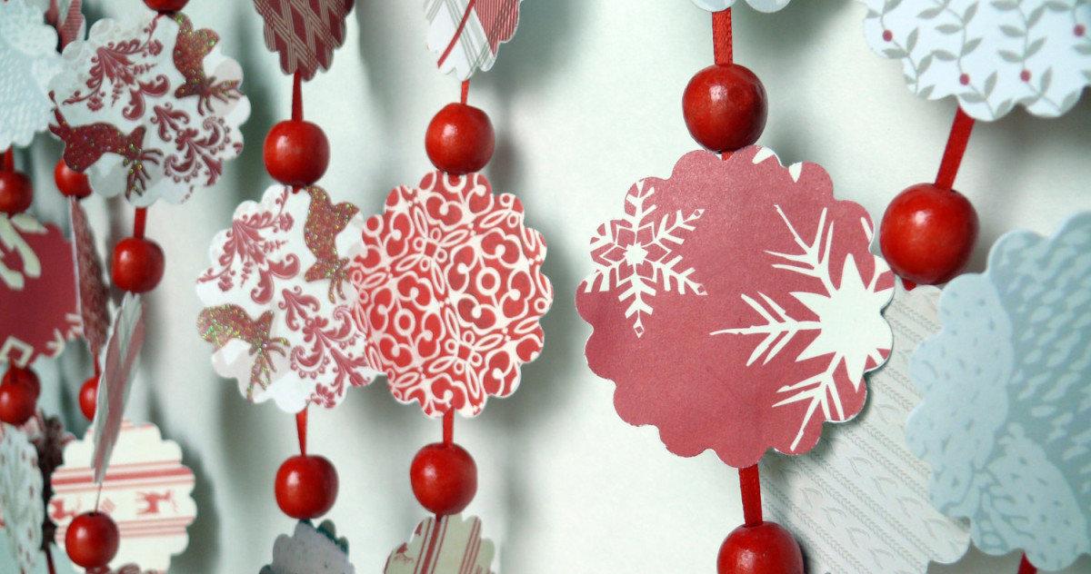 Гирлянды новогодние украшения своими руками фото 60
