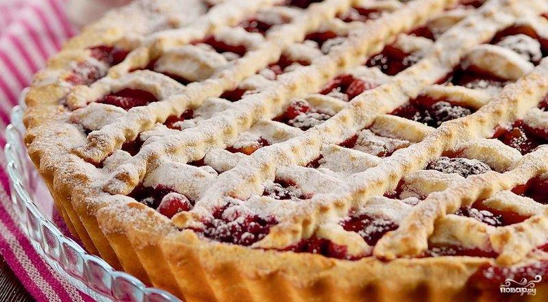 Пирог с замороженными ягодами в духовке рецепт пошагово с