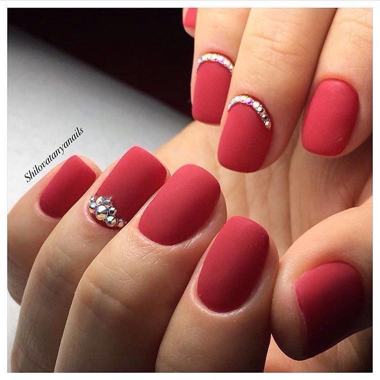Матовые красивые ногти 2017