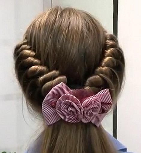 Красивые прически на длинные волосы на выпускной