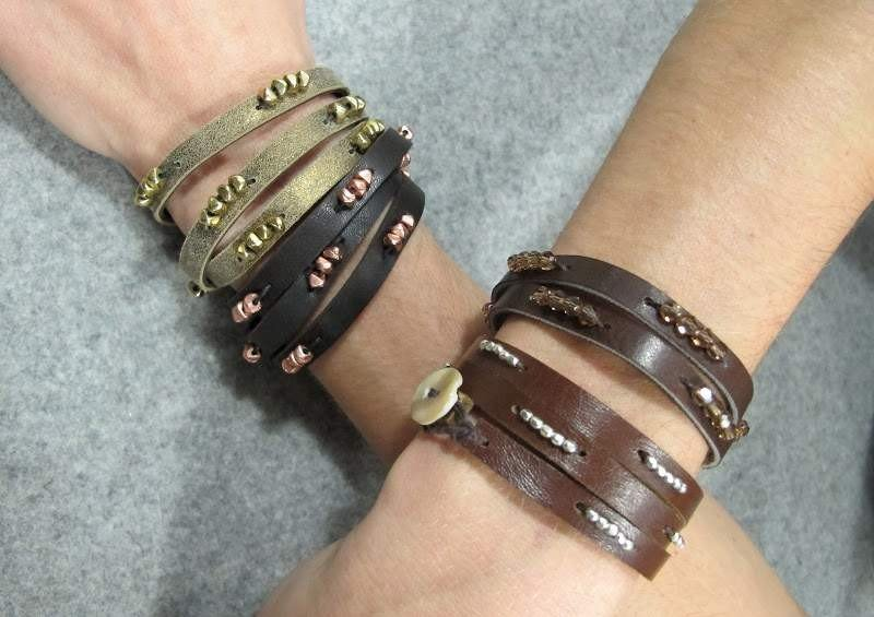 Как сделать кожаные браслеты своими руками 78