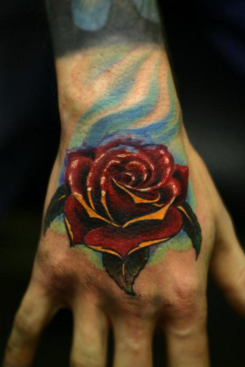 Татуировки цветы у мужчин