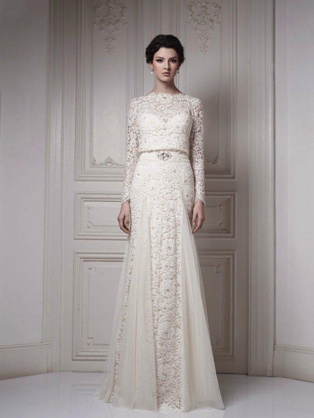 Свадебные платья длинным рукавом