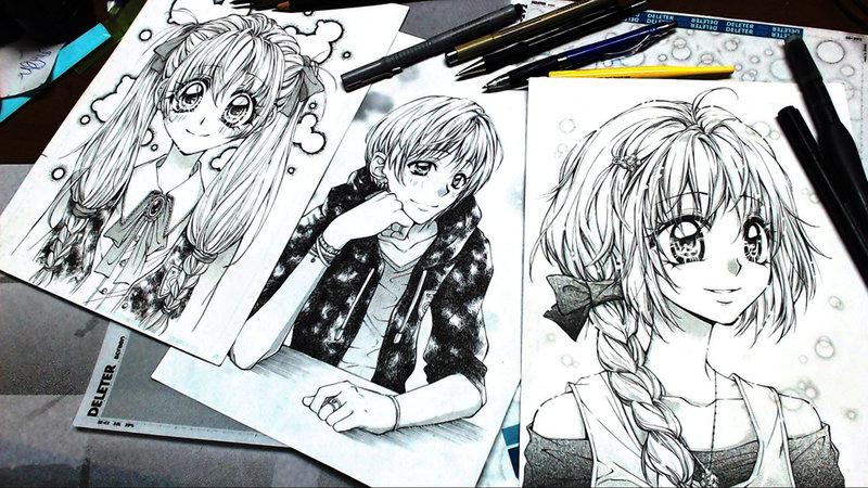 Рисую свою мангу