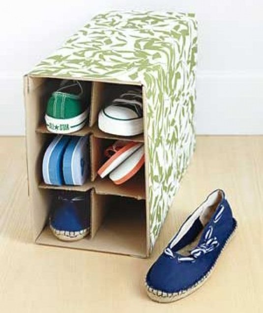 органайзер для обуви с коробки - карточка от пользователя kseniya.ruda в Яндекс.Коллекциях
