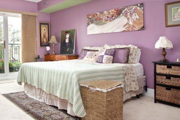 Лавандовые спальни дизайн
