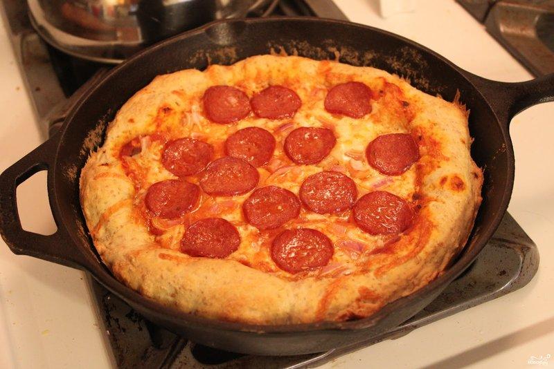 Рецепты пиццы в домашних условиях на сковороде с кефиром
