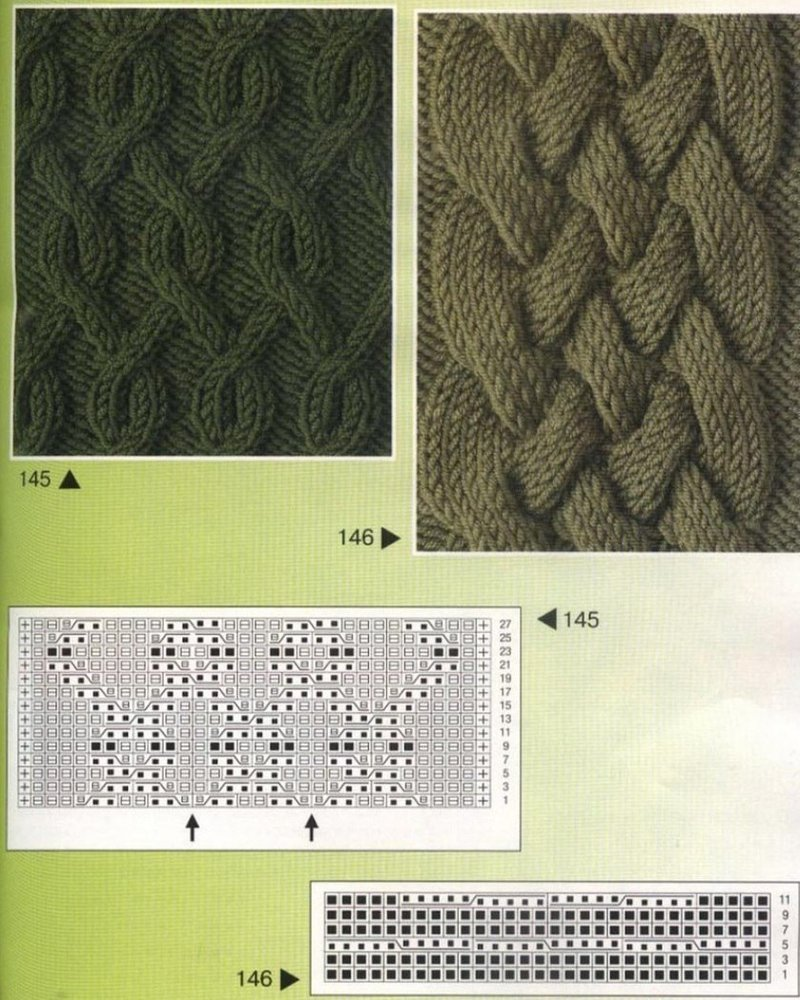 Орнамент олени вязание
