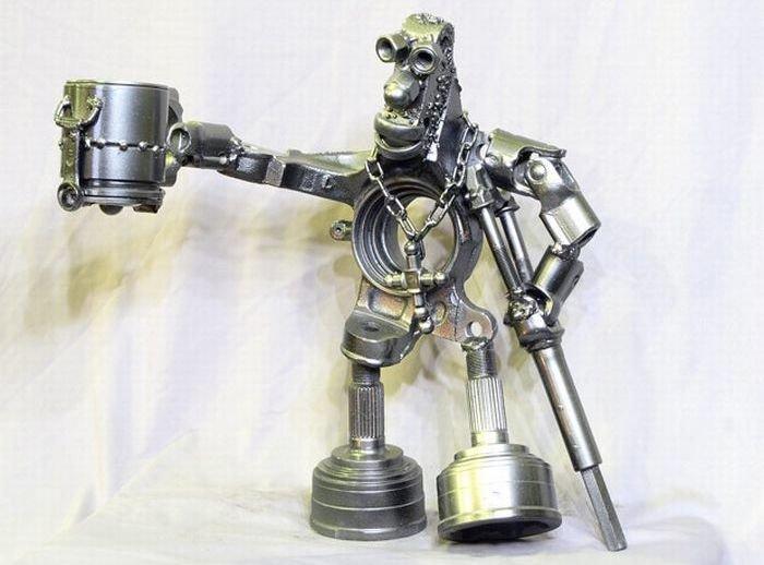 Поделки из деталей двигателя 21