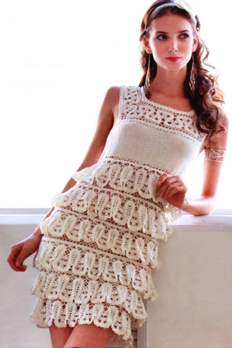 Рисунки для вязаного платья