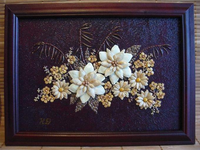 Картина из семян и косточек своими руками