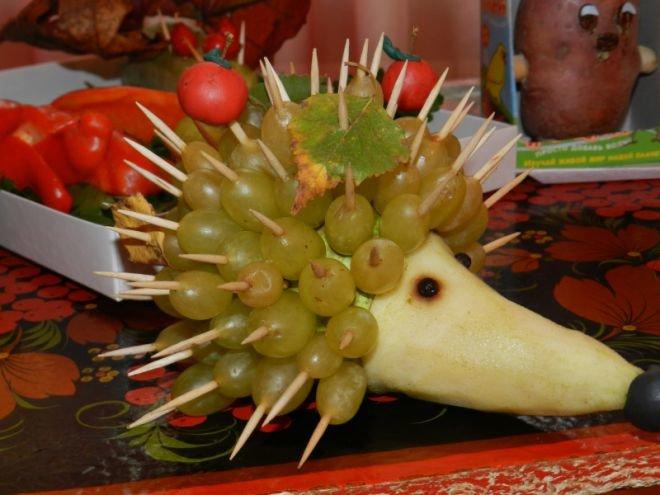 Поделки из овощей и фруктов на выставку на тему осень 31