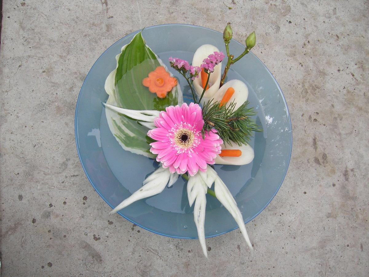 Икебана из цветов своими руками фото из 57