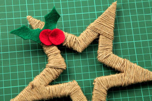 Новогодние игрушки своими руками из картона фото пошагово