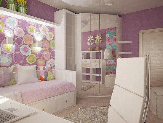 Комната 9 кв м дизайн для девочки