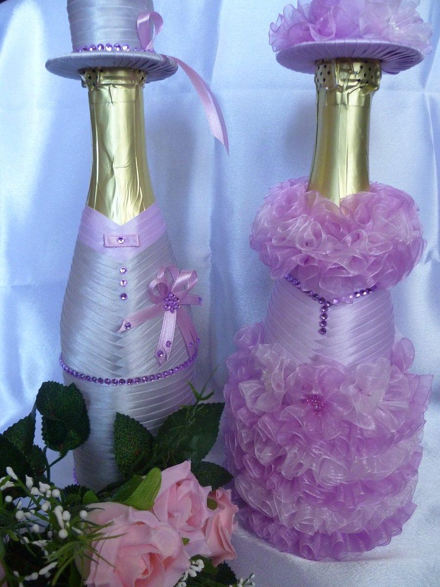 Как своими руками украсить бутылку шампанского на день рождения своими руками