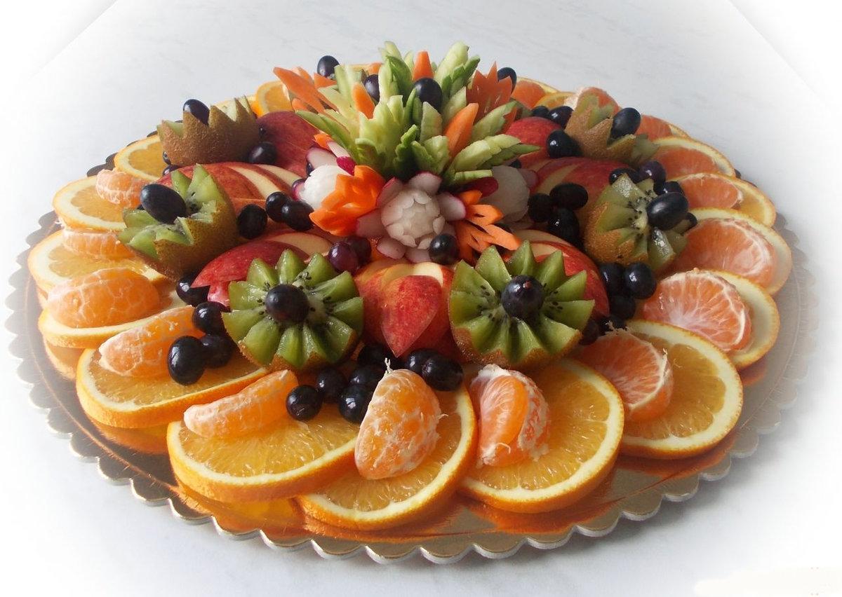 Нарезка фрукты на праздничный стол фото в домашних условиях
