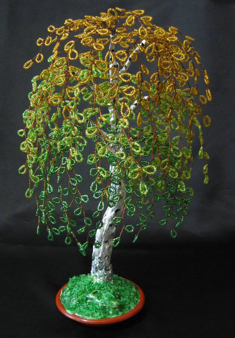 Из бисера поделки дерево