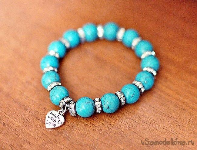 Сделать браслет своими руками из камня