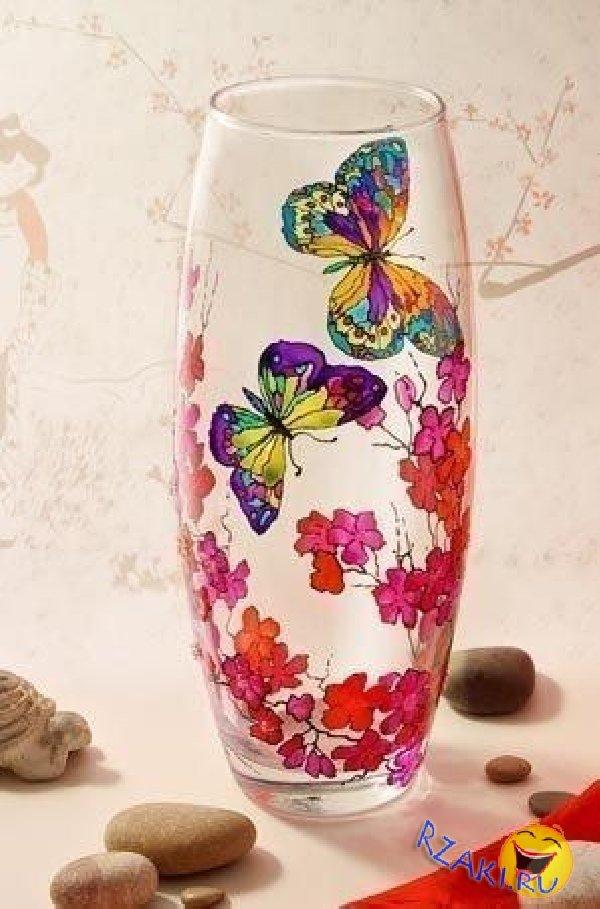 Рисунок для вазы своими руками