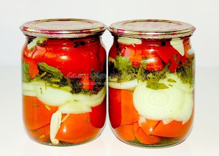 Салат с помидор с луком на зиму рецепты с