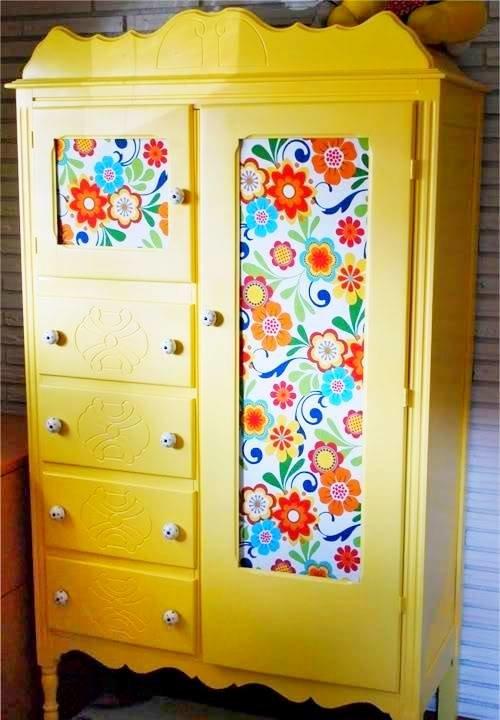 Как обновить шкаф в детской своими руками 55