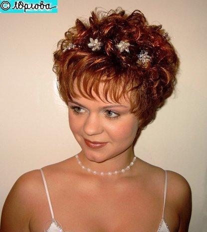 Прически с короткими волосами мамы на свадьбу