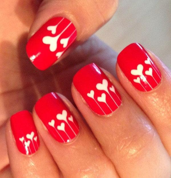 Дизайны ногтей на 14 февраля