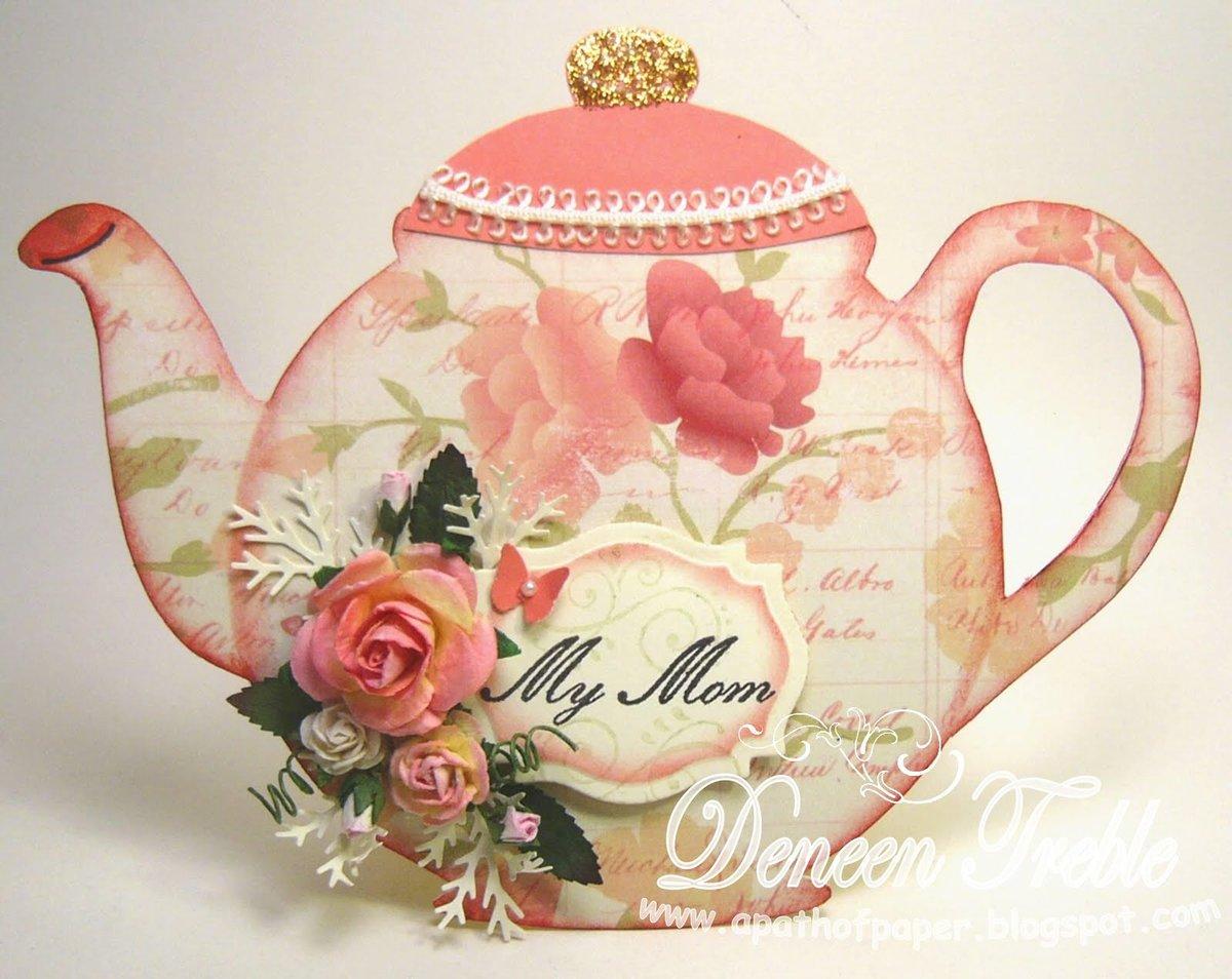 Поделка на день матери чайник