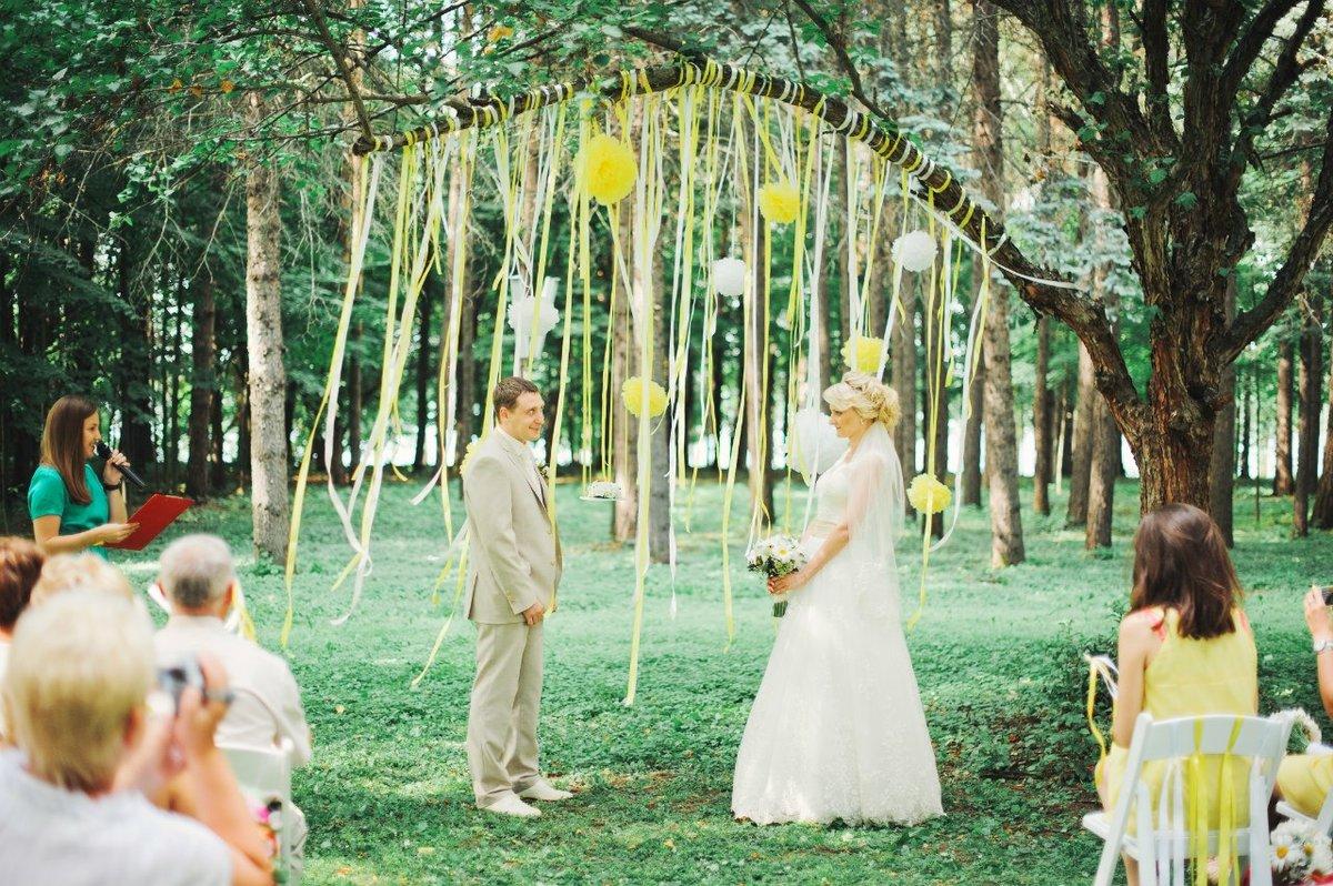Свадьба на природе своими руками