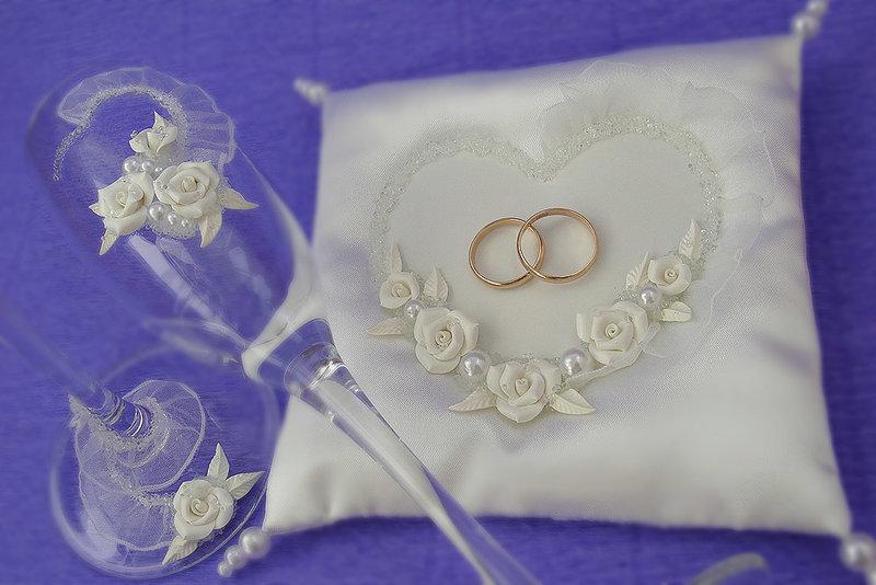 Подушечки на свадьбу своими рукам